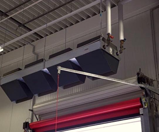 Эксплуатация воздушно-тепловых завес