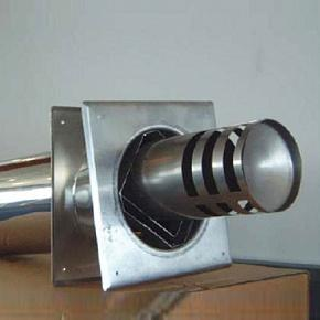 Труба-терминал для вывода дымохода на фасад (150x100mm)